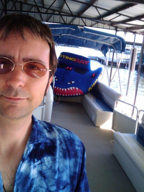 Bob on boat
